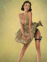 艳女郎演绎性感女兵 半裸翘臀军旅风格