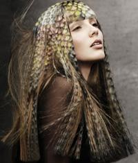奢华羽毛染发造型惊人