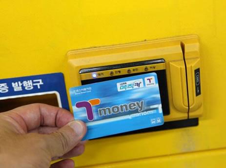 在韩国如何乘坐地铁_T-Money卡