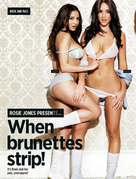 日前,性感模特英超宝贝罗斯-琼斯登上最新一期《nuts》杂志封面,大秀窈窕身姿傲人上围。
