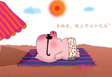 晒太阳减肥