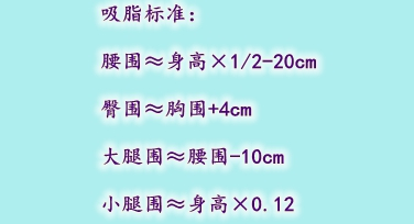 北京东方瑞丽吸脂标准