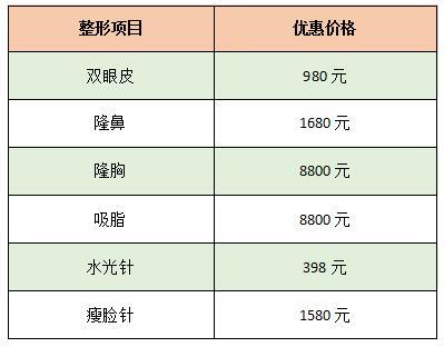 郑州东方女子9月整形优惠