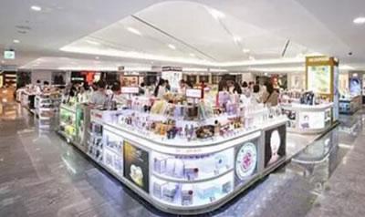 韩国免税店化妆品专柜