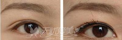 纹眼线效果对比