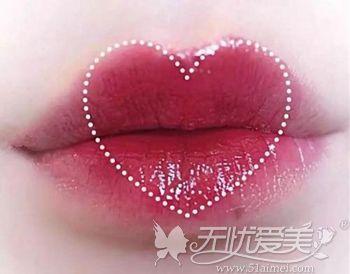 桃心唇唇形