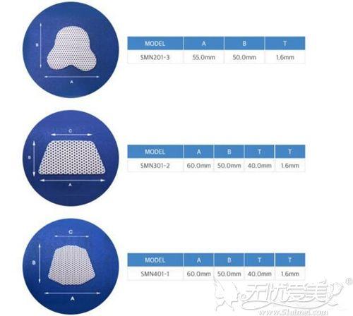 不同形状的鼻夹板