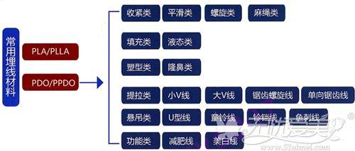 PLLA和PPDO的线材分类